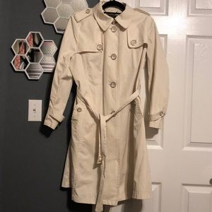 Talbots Trench Coat Size 14W